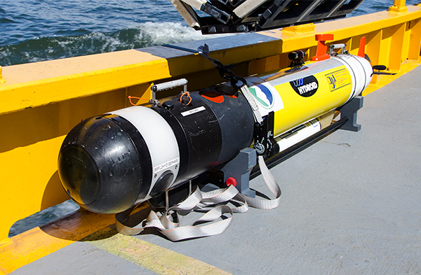 AUV transported back to shore.