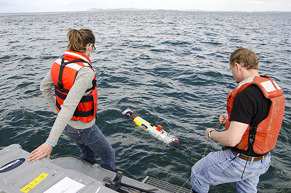 AUV released into the Columbia River north channel
