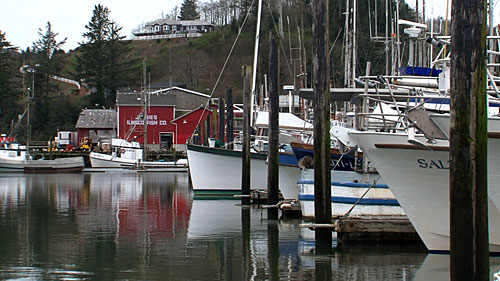 Harbor in Ilwaco, Washington where the team met up at.