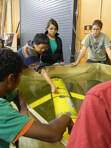 Students learn all the aspects of planning a glider mission