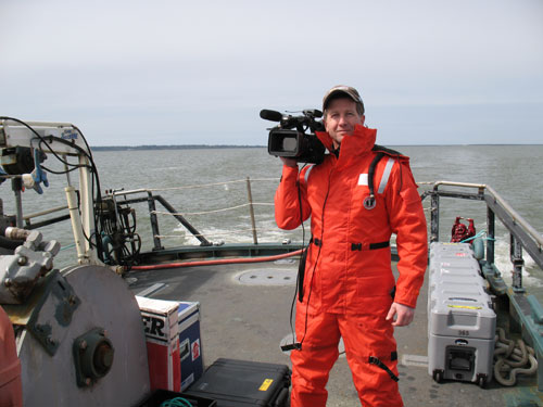 Here I am sporting a Mustang Survival flotation suit