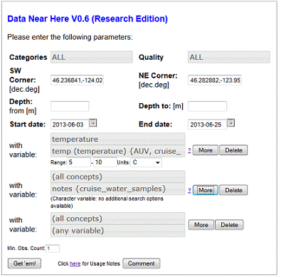 how to add variables to a search